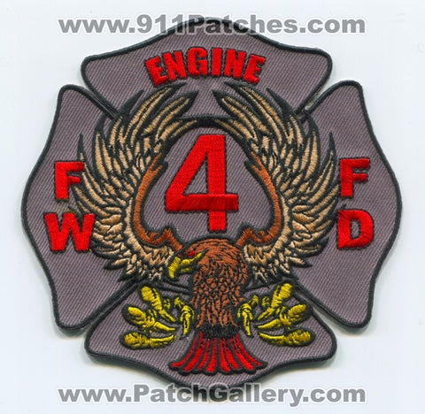 Fort Wayne Fire Department Engine 4 Patch Indiana IN