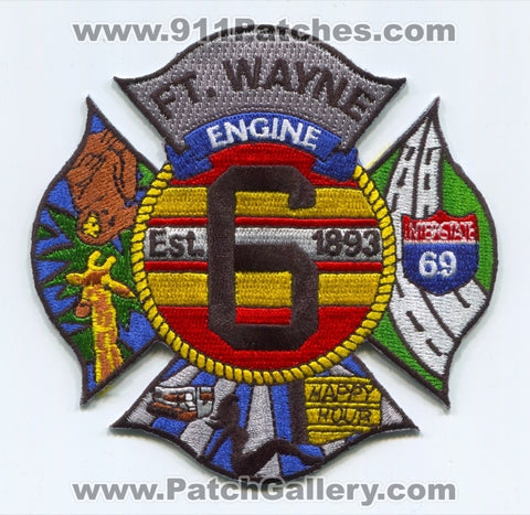 Fort Wayne Fire Department Engine 6 Patch Indiana IN
