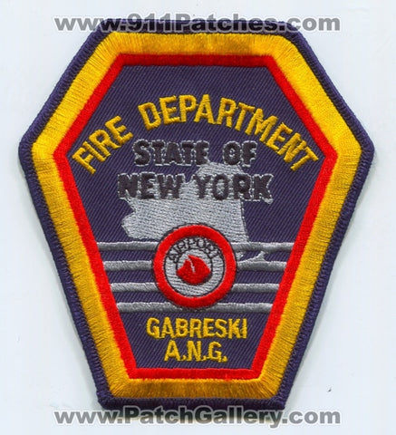 Gabreski Air National Guard Base ANGB Airport Fire Department USAF Military Patch New York NY