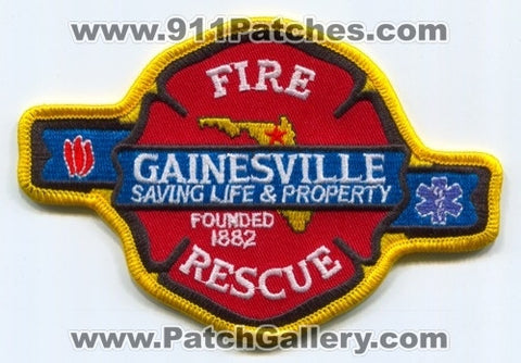 Gainesville Fire Rescue Department Patch Florida FL