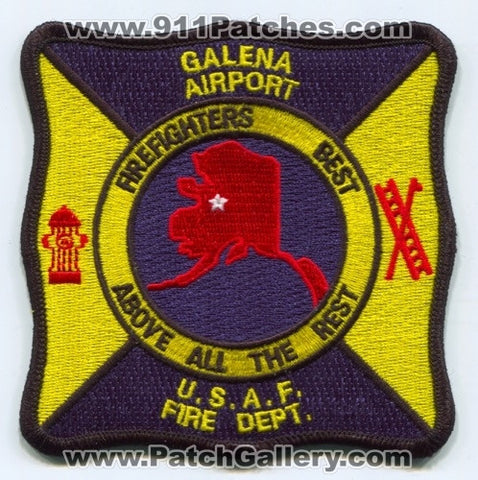 Galena Airport Fire Department USAF Military Patch Alaska AK