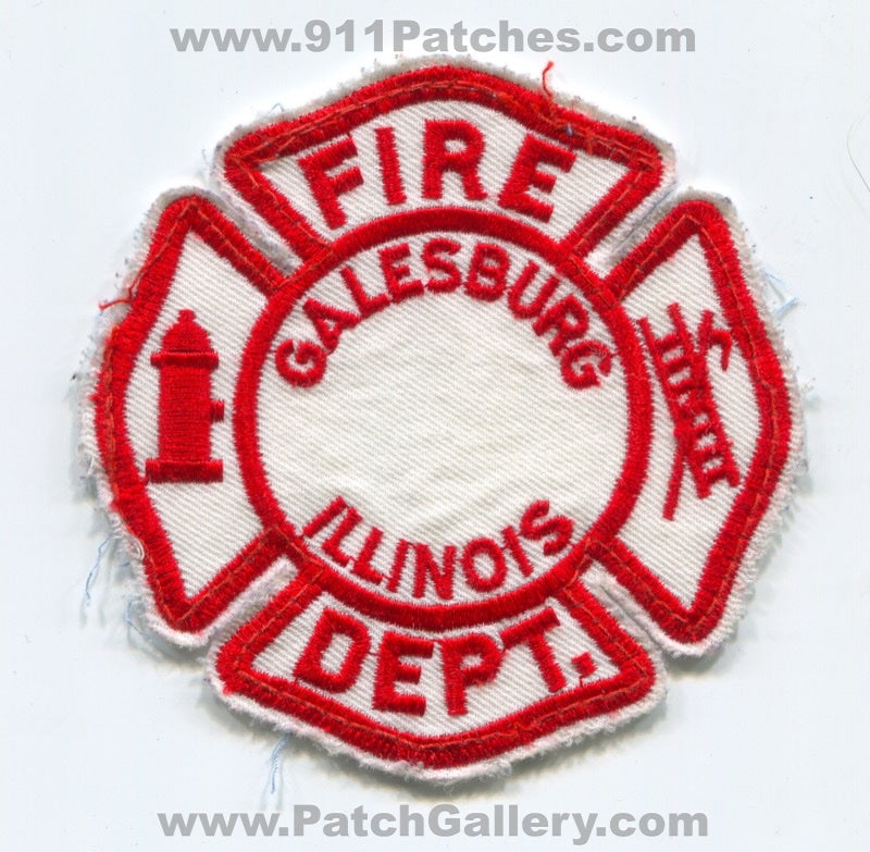 Galesburg Fire Department Patch Illinois IL