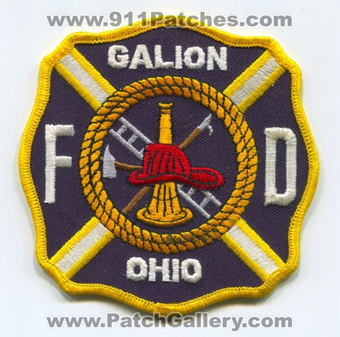 Galion Fire Department Patch Ohio OH