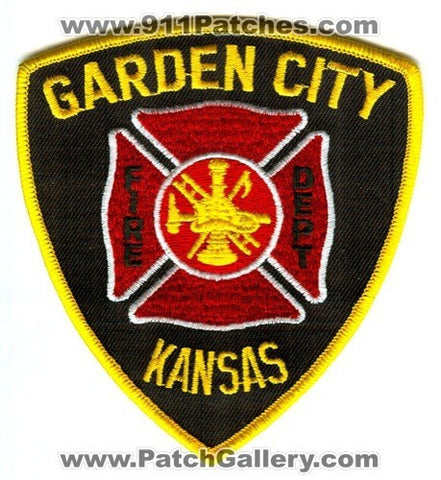 Garden City Fire Department Patch Kansas KS