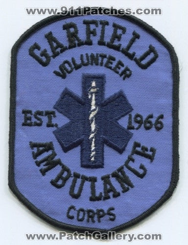Garfield Volunteer Ambulance Corps EMS Patch Michigan MI