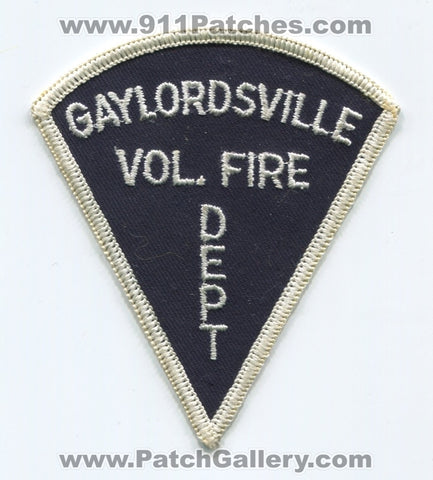 Gaylordsville Volunteer Fire Department Patch Connecticut CT