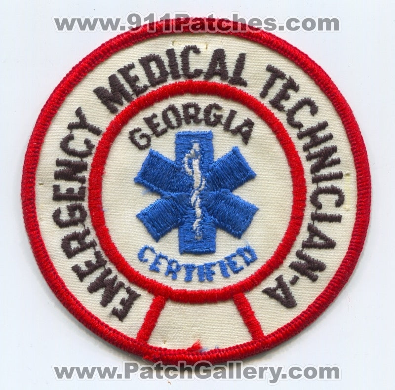Georgia State Certified Emergency Medical Technician Emt A Ems Patch