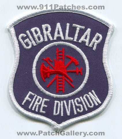 Gibraltar Fire Division Patch Michigan MI
