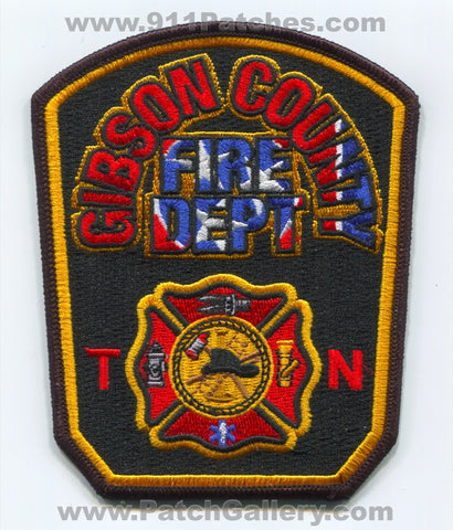 Gibson County Fire Department Patch Tennessee TN