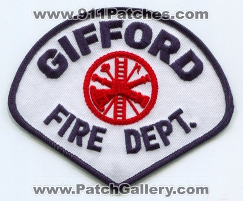 Gifford Fire Department Patch Illinois IL