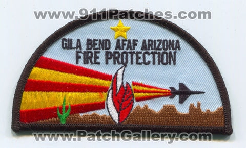 Gila Bend Air Force Auxiliary Field AFAF Fire Protection USAF Military Patch Arizona AZ