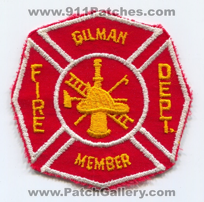 Gilman Fire Department Member Patch Unknown State