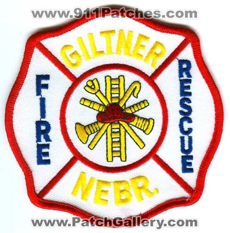 Giltner Fire Rescue Department Patch Nebraska NE