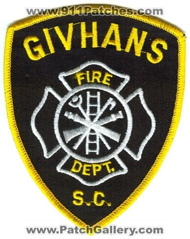Givhans Fire Department Patch South Carolina SC