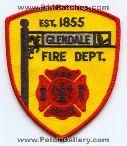Glendale Fire Rescue Department Patch Ohio OH