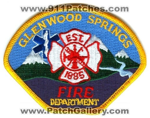 Glenwood Springs Fire Department Patch Colorado CO