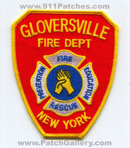 Gloversville Fire Rescue Department Patch New York NY