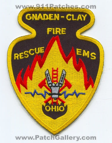 Gnaden-Clay Fire Rescue EMS Department Patch Ohio OH