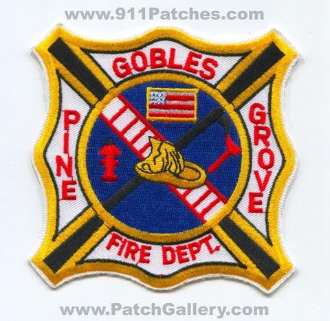 Gobles Pine Grove Fire Department Patch Michigan MI