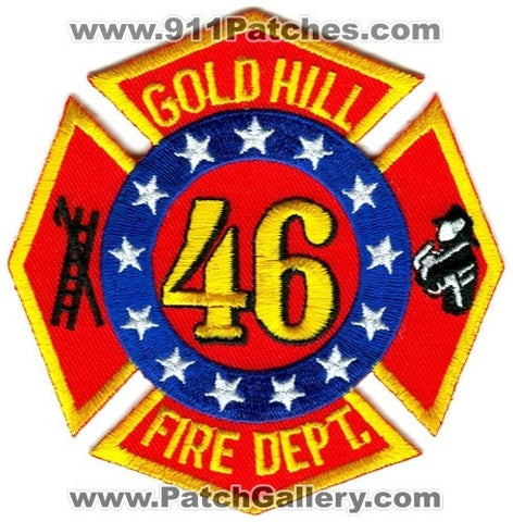 Gold Hill Fire Department 46 Patch North Carolina NC