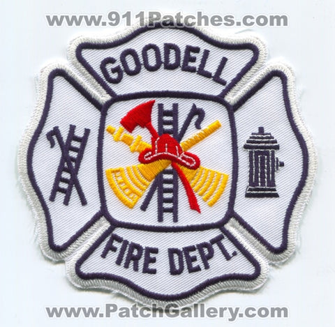 Goodell Fire Department Patch Iowa IA