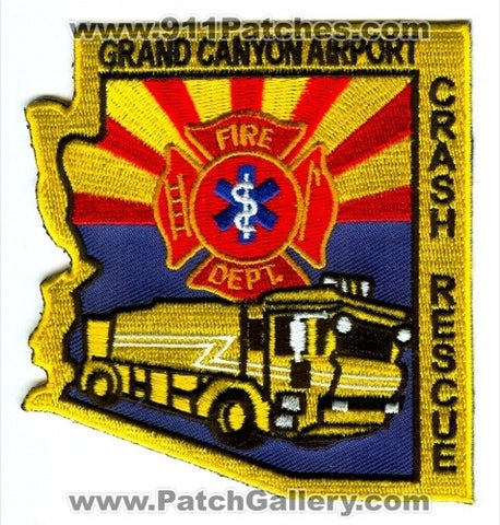 Grand Canyon Airport Fire Department Crash Rescue Patch Arizona AZ