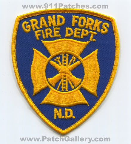 Grand Forks Fire Department Patch North Dakota ND v2