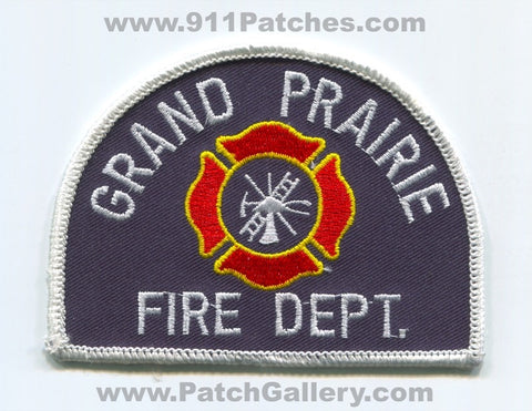 Grand Prairie Fire Department Patch Texas TX