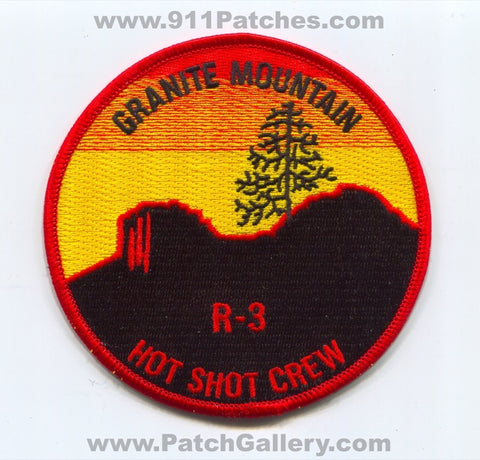 Granite Mountain Hotshot Crew Region 3 Forest Fire Wildfire Wildland Patch Arizona AZ