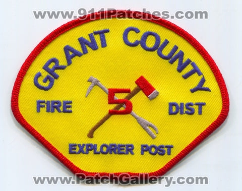 Grant County Fire District 5 Explorer Post Patch Washington WA