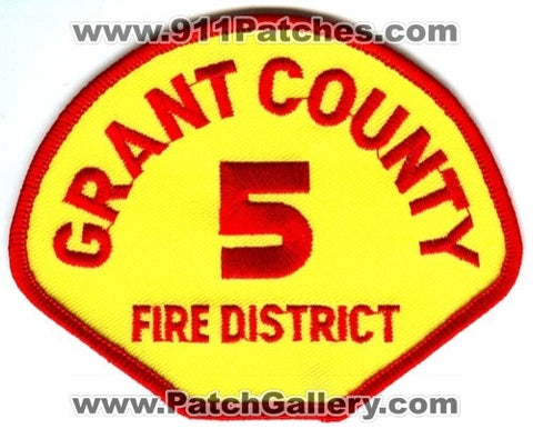 Grant County Fire District 5 Patch Washington WA