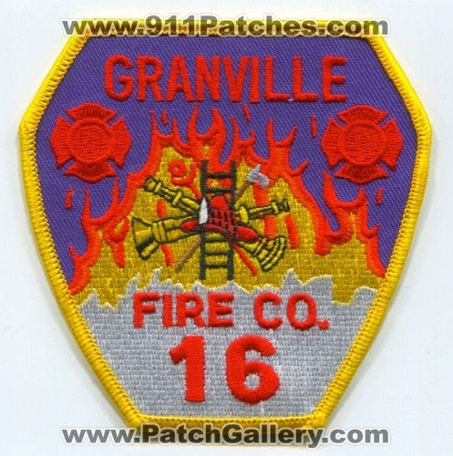 Granville Fire Company 16 Patch Pennsylvania PA