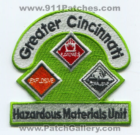 Greater Cincinnati Hazardous Materials Unit Patch Ohio OH