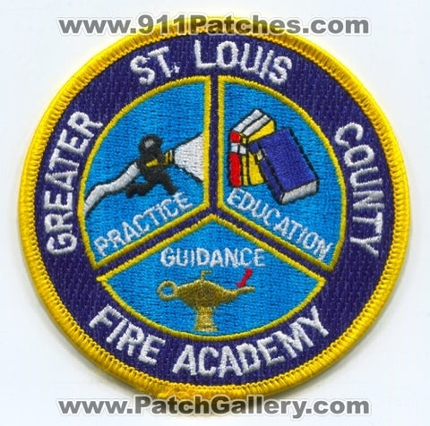 Greater Saint Louis County Fire Academy Patch Missouri MO