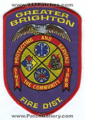 Greater Brighton Fire District Patch Colorado CO