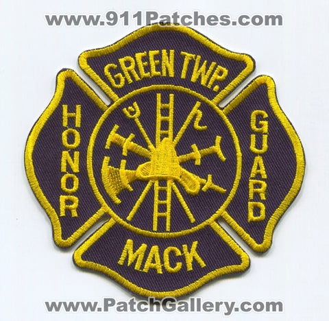 Green Township Mack Fire Department Honor Guard Patch Ohio OH