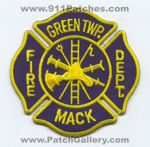 Green Township Mack Fire Department Patch Ohio OH