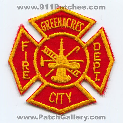 Greenacres City Fire Department Patch Florida FL
