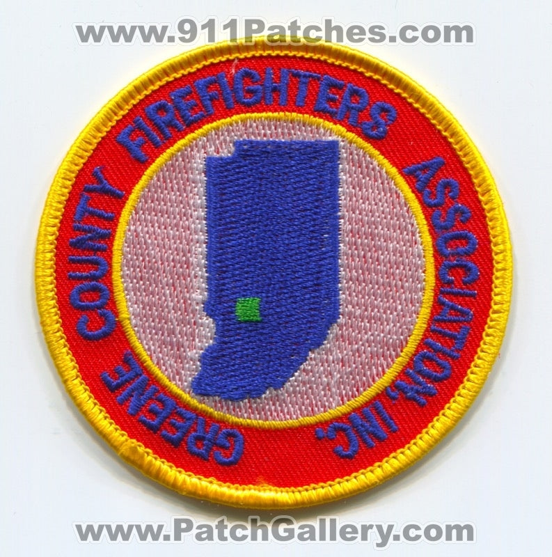 Greene County Firefighters Association Inc Patch Indiana IN