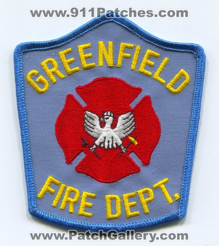Greenfield Fire Department Patch Unknown State