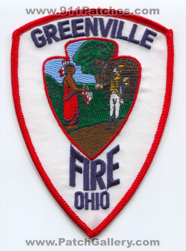 Greenville Fire Department Patch Ohio OH