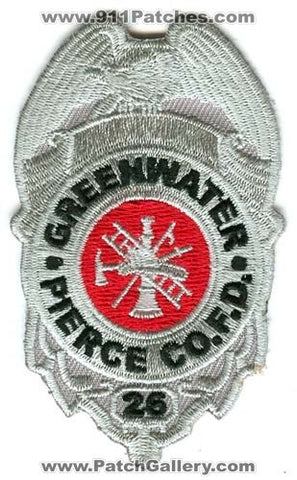 Pierce County Fire District 26 Greenwater Patch Washington WA
