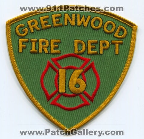 Greenwood Fire Department 16 Patch Pennsylvania PA