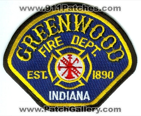 Greenwood Fire Department Patch Indiana IN
