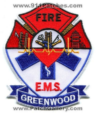 Greenwood Fire EMS Department Patch Unknown State