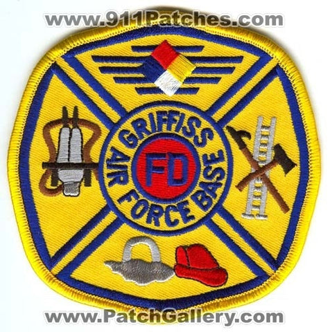 Griffiss Air Force Base AFB Fire Department USAF Military Patch New York NY