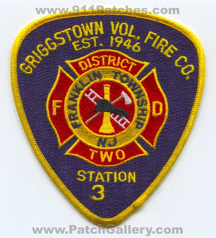 Griggstown Volunteer Fire Company District 2 Station 35 Patch New Jersey NJ