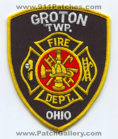 Groton Township Fire Department Patch Ohio OH