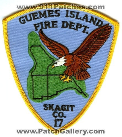 Guemes Island Fire Department Skagit County District 17 Patch Washington WA