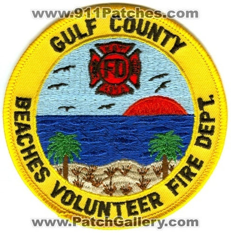Gulf County Beaches Volunteer Fire Department Patch Florida FL